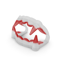 Plastic Vampire Teeth Red PNG & PSD Images