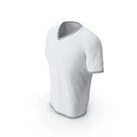 Male V Neck Worn White and Gray PNG & PSD Images