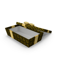 Gift Box Open Black PNG & PSD Images