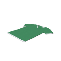Male V Neck Laying White and Green PNG & PSD Images