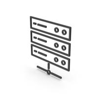 Symbol Server Black PNG & PSD Images