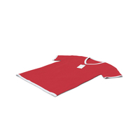 Male V Neck Laying With Tag White and Red PNG & PSD Images