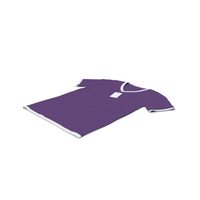 Male V Neck Laying With Tag White and Purple PNG & PSD Images