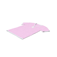 Male V Neck Laying With Tag White and Pink PNG & PSD Images