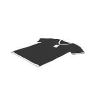 Male V Neck Laying With Tag White and Black PNG & PSD Images