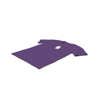 Male V Neck Laying With Tag Purple PNG & PSD Images