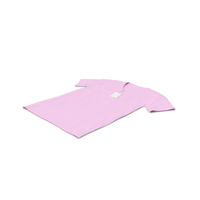 Male V Neck Laying With Tag Pink PNG & PSD Images