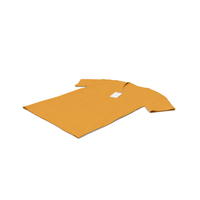 Male V Neck Laying With Tag Orange PNG & PSD Images
