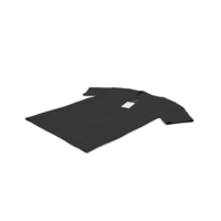 Male V Neck Laying With Tag Black PNG & PSD Images