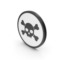 Icon Skull With Crossed Bones PNG & PSD Images