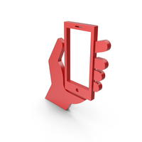 Cell Phone Red Icon PNG & PSD Images