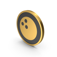 Gold Icon Bowling Ball PNG & PSD Images