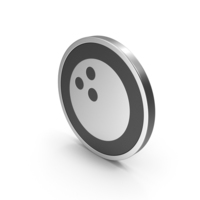 Silver Icon Bowling Ball PNG & PSD Images
