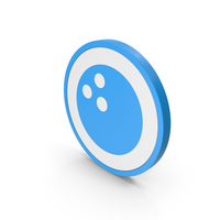 Icon Bowling Ball Blue PNG & PSD Images