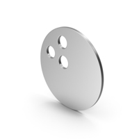 Symbol Bowling Ball Silver PNG & PSD Images