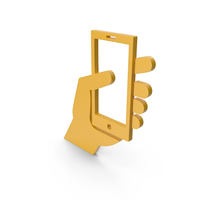 Cell Phone Yellow Icon PNG & PSD Images