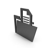 Folder Black Symbol PNG & PSD Images