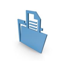 Folder Blue Symbol PNG & PSD Images