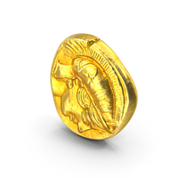 Gold Ancient Coin PNG & PSD Images
