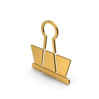 Symbol Binder Clip Gold PNG & PSD Images