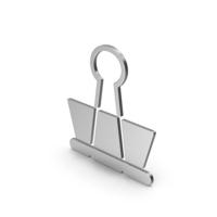 Symbol Binder Clip Silver PNG & PSD Images