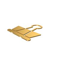 Gold Symbol Binder Clip PNG & PSD Images