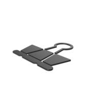 Black Symbol Binder Clip PNG & PSD Images