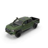 Toyota Tacoma TRD Pro Army Green 2021 PNG & PSD Images