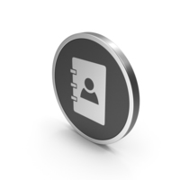 Silver Icon Address Book PNG & PSD Images