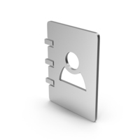 Symbol Address Book Silver PNG & PSD Images
