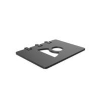 Black Symbol Address Book PNG & PSD Images