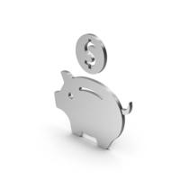 Symbol Piggy Bank Silver PNG & PSD Images