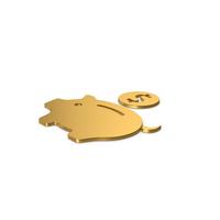 Gold Symbol Piggy Bank PNG & PSD Images