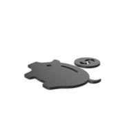 Black Symbol Piggy Bank PNG & PSD Images