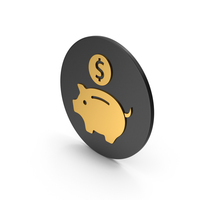 Piggy Bank Gold Icon PNG & PSD Images