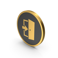 Gold Icon Exit PNG & PSD Images