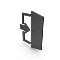 Symbol Exit Black PNG & PSD Images
