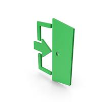 Symbol Exit Green PNG & PSD Images