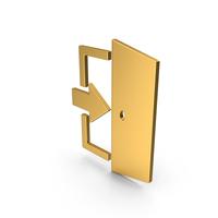Symbol Exit Gold PNG & PSD Images