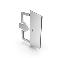 Symbol Exit Silver PNG & PSD Images