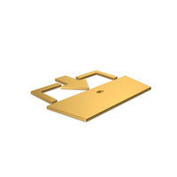 Gold Symbol Exit PNG & PSD Images