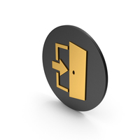 Exit Gold Icon PNG & PSD Images