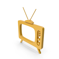 Television Yellow Icon PNG & PSD Images