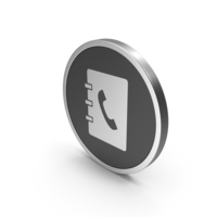 Silver Icon Phonebook PNG & PSD Images