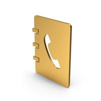 Symbol Phonebook Gold PNG & PSD Images