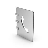 Symbol Phonebook Silver PNG & PSD Images