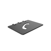 Black Symbol Phonebook PNG & PSD Images