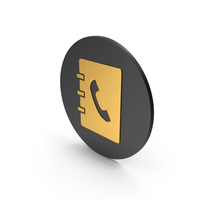 Phonebook Gold Icon PNG & PSD Images