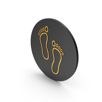 Footprint Gold Icon PNG & PSD Images