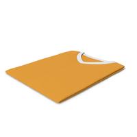 Male V Neck Folded White and Orange PNG & PSD Images